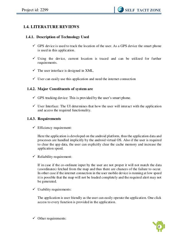 literature review on android application