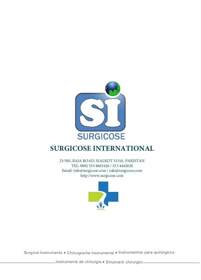 Surgical Instruments Chirurgische Instrumente Instrumentos para quirúrgicos Instruments de chirurgie Strumenti chirurgici ...