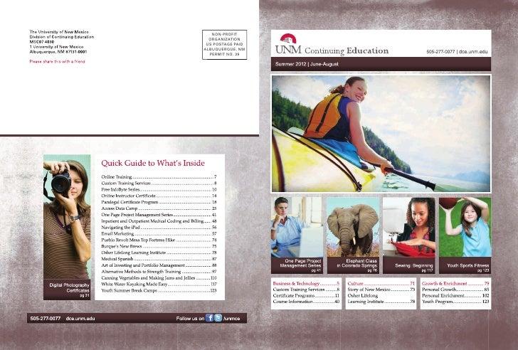 UNM Continuing Education Summer 2012 Catalog