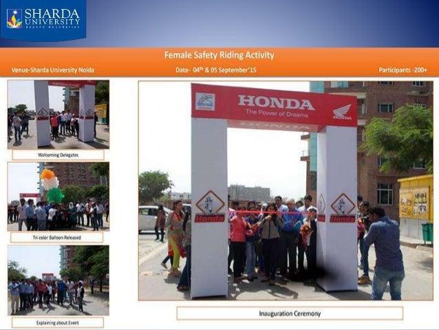 MEGA FEMALE SAFETY RIDING CAMP AT SHARDA UNIVERSITY Slide 3