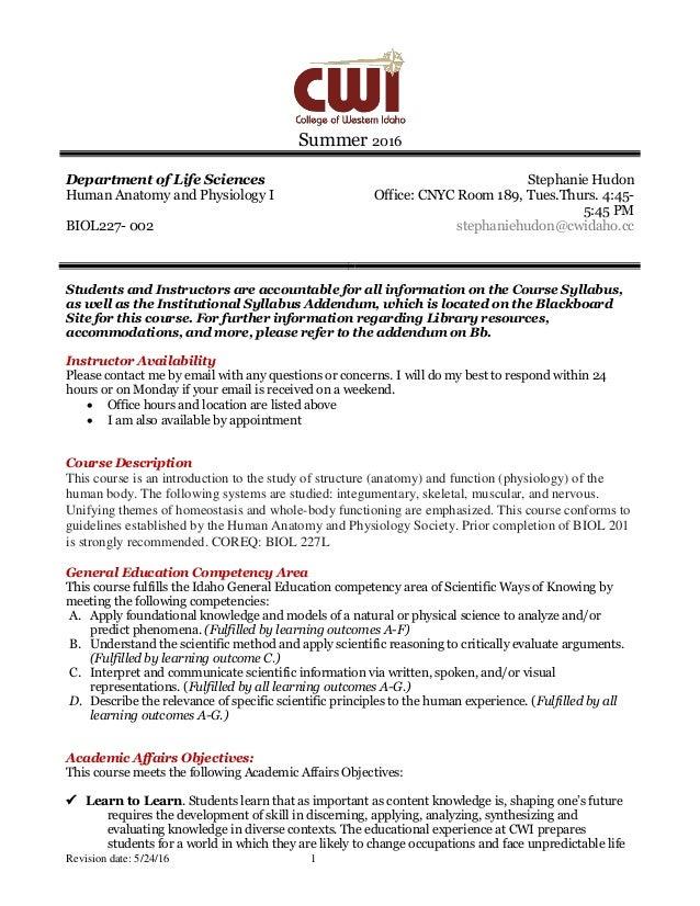 Su16 Syllabus B227-002 Stephanie Hudon
