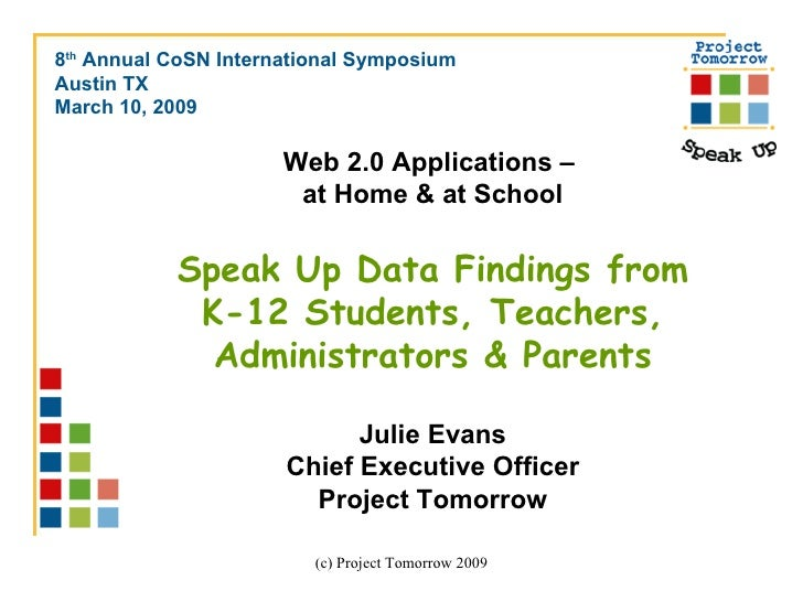 <ul><li>8 th  Annual CoSN International Symposium </li></ul><ul><li>Austin TX </li></ul><ul><li>March 10, 2009 </li></ul>W...