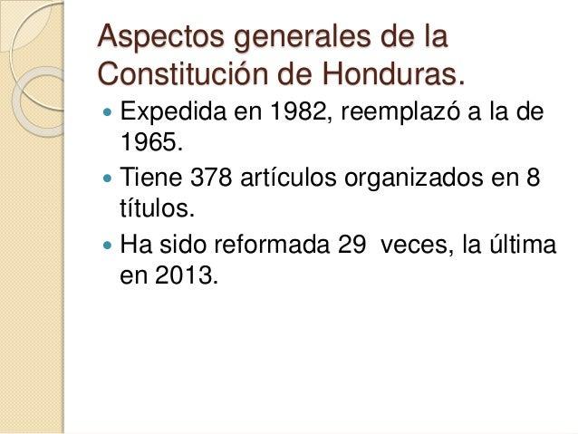 Análisis De La Constitución De Honduras