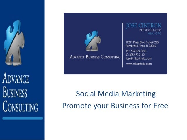 Social Media Marketing Promote your Business for Free