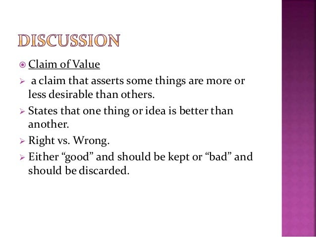 what is a claim of value apex