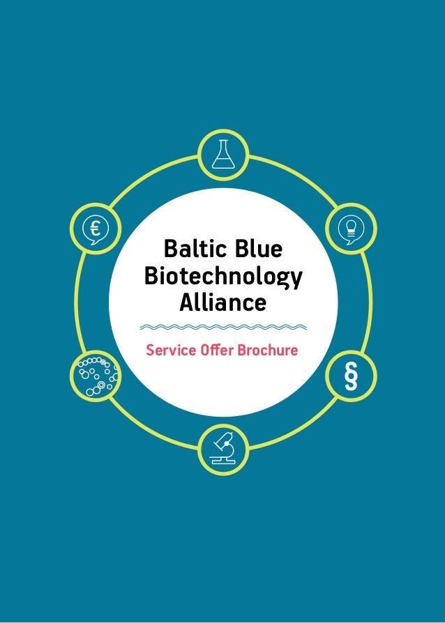 Service Offer Brochure Baltic Blue Biotechnology Alliance
