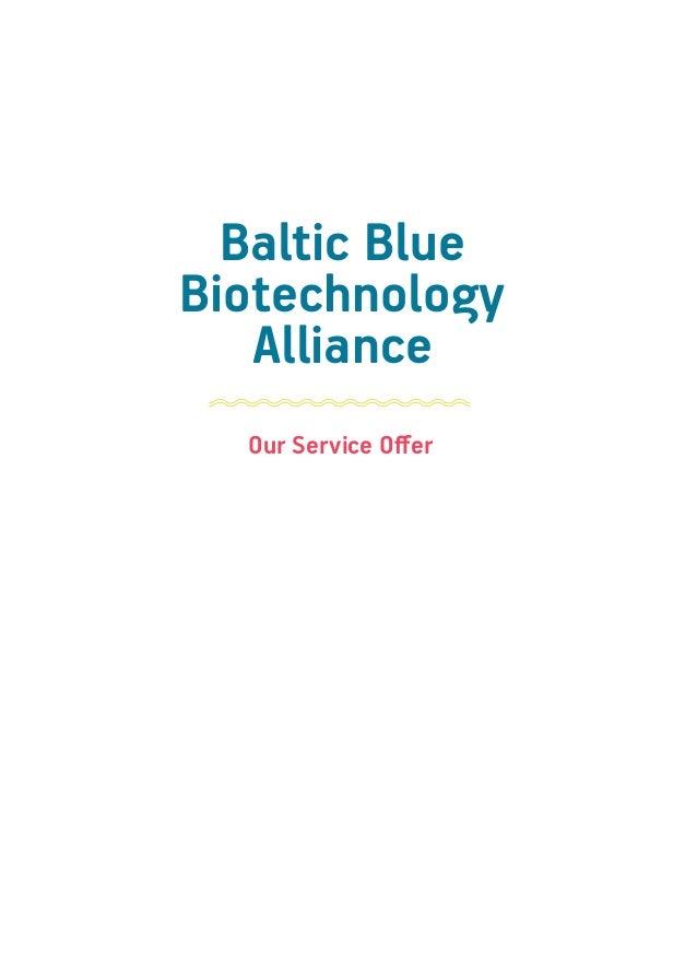 Baltic Blue Biotechnology Alliance Service Offer Brochure Slide 3