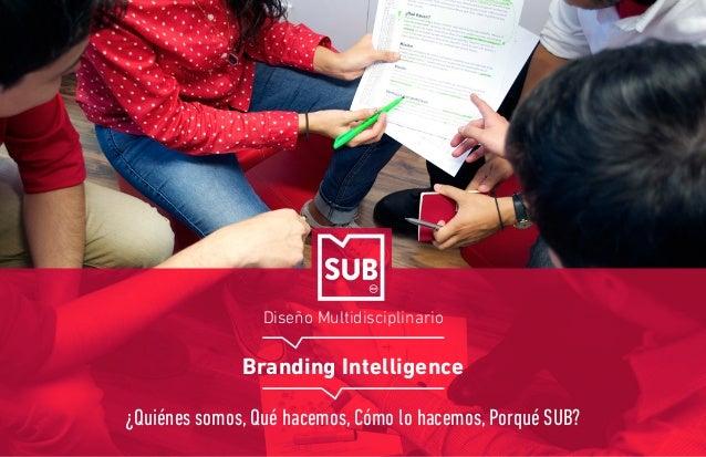Diseño Multidisciplinario Branding Intelligence ¿Quiénes somos, Qué hacemos, Cómo lo hacemos, Porqué SUB?