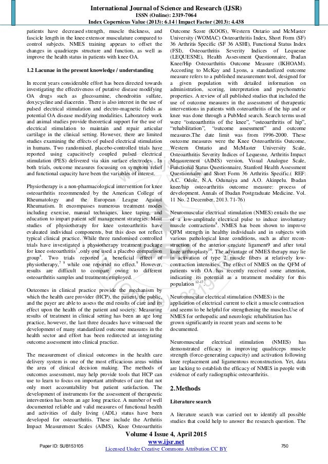 Literature review functional electrical stimulation
