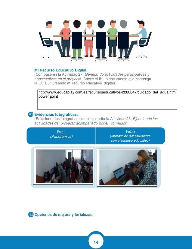 14 Mi Recurso Educativo Digital. (Con base en la Actividad 27: Generando actividades participativas y constructivas en el ...