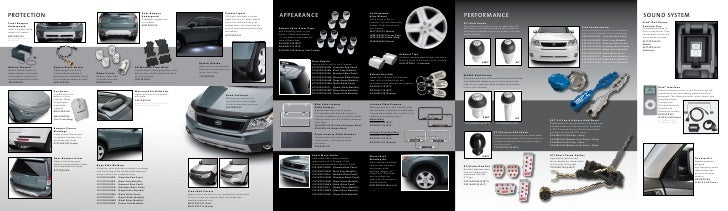 Subaru Forester Accessory Catalog
