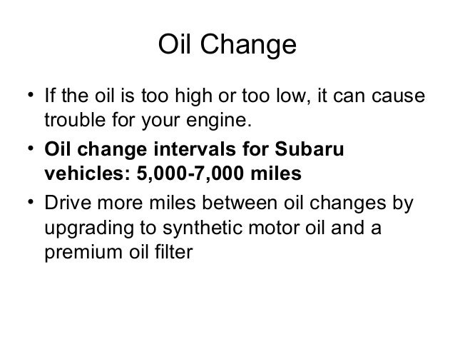Subaru Service And Maintenance Tips