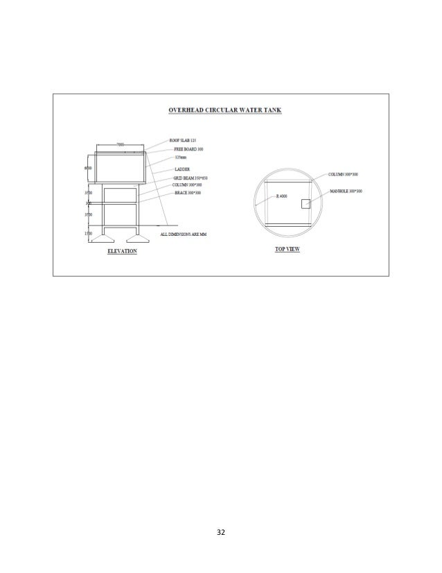 Water Tank Drawing Autocad