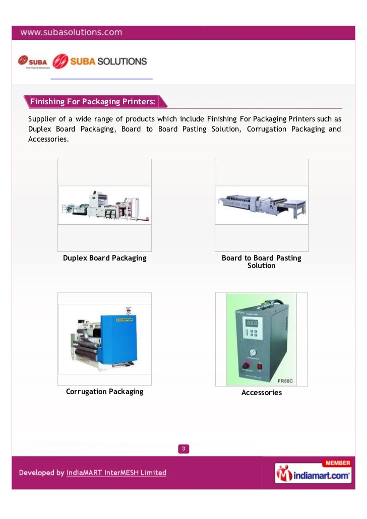 Suba Solutions Private Limited, Chennai, Fully Automatic Case Maker Slide 3