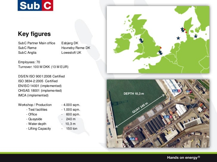 Key figuresSubC Partner Main office   Esbjerg DKSubC Rømø                  Havneby Rømø DKSubC Anglia                Lowes...