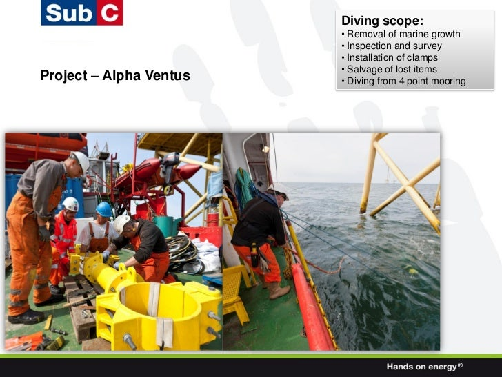 Diving scope:                         • Removal of marine growth                         • Inspection and survey          ...