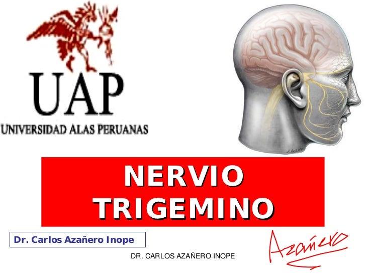 NERVIO                TRIGEMINO Dr. Carlos Azañero Inope                        DR. CARLOS AZAÑERO INOPE