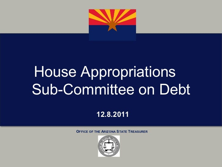 12.8.2011 House Appropriations  Sub-Committee on Debt
