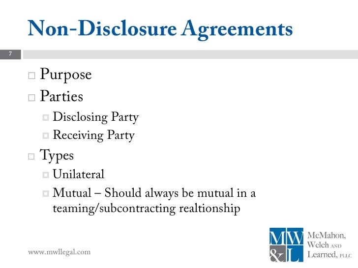 Subcontract Agreements