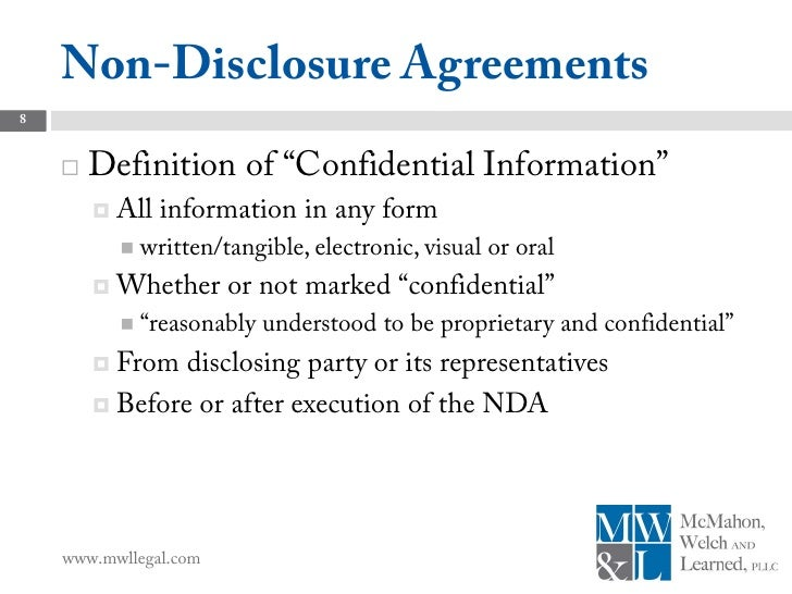 Subcontract agreements 8 non disclosure agreements8 definition platinumwayz