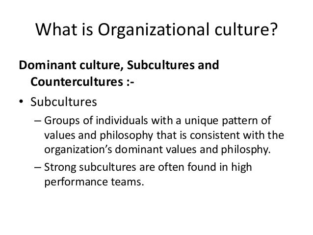 subcultures in organization Simply put, a subculture is the norms, values, and beliefs of a subsystem within a  larger organization higher education institutions are.