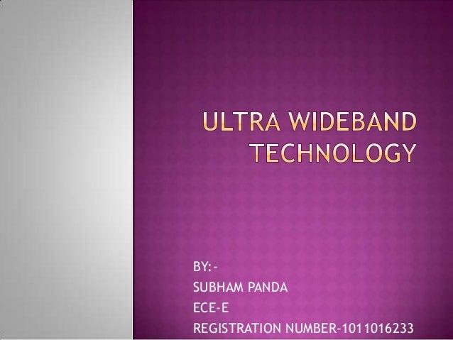 BY:SUBHAM PANDA ECE-E REGISTRATION NUMBER-1011016233