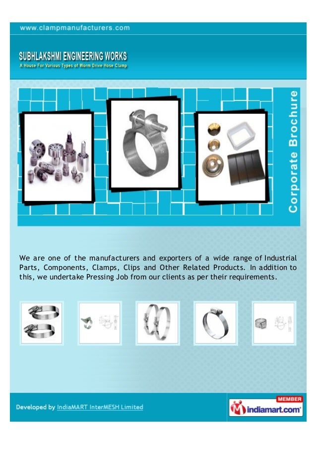 We are one of the manufacturers and exporters of a wide range of IndustrialParts, Components, Clamps, Clips and Other Rela...