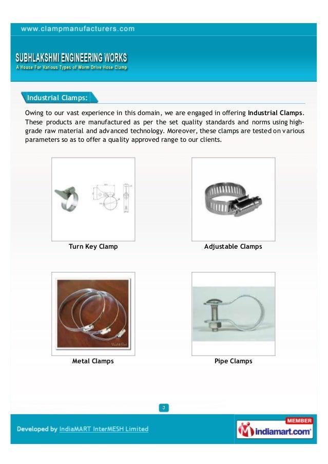 Subhlakshmi Engineering Works, Mumbai, Clamps and Hose Clamps Slide 3