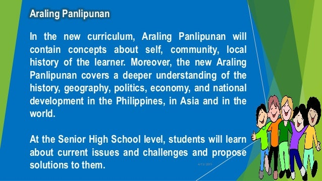 Learning Areas K To 12 K SHS