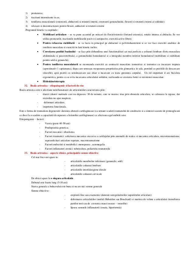 Obiectivele kinetoterapiei in coxartroza