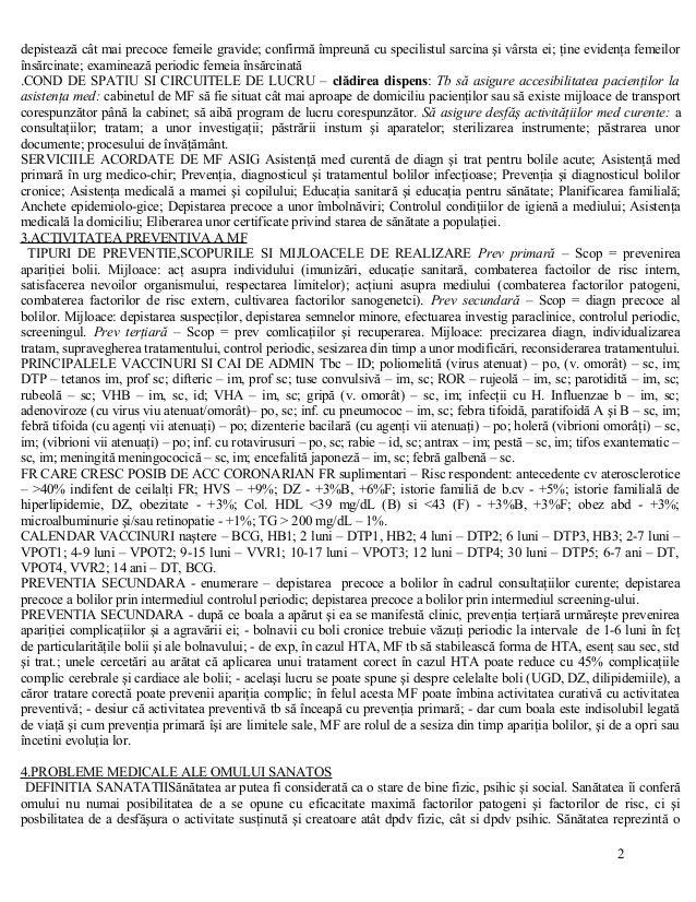 Subiecte Rezolvate Examen de Specializare Medicina de Familie Slide 2