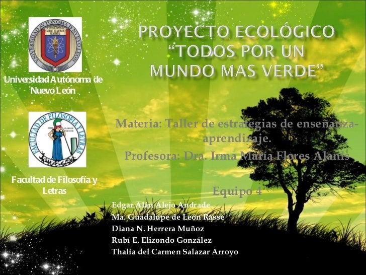 Proyecto ecologico for Proyecto de criadero de mojarras