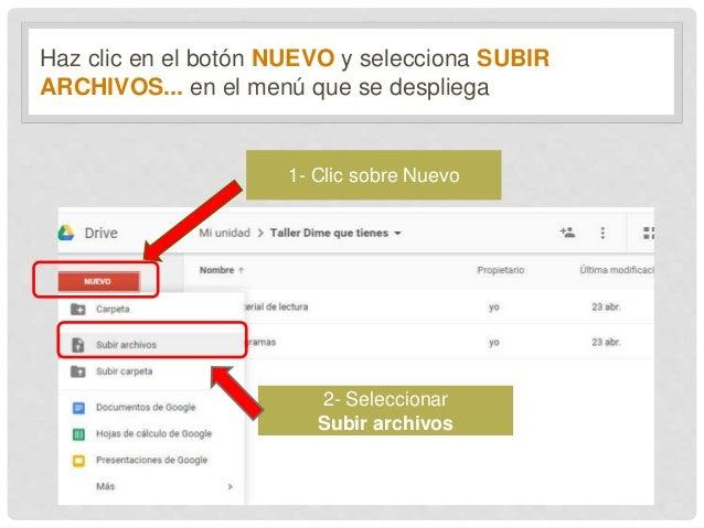 Subir Un Un Archivo A Google Drive