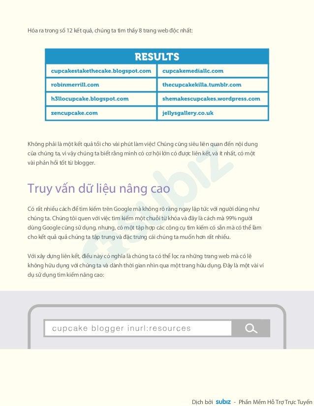 n trang t các trang web ngoài và  cht lng nhng nhng trang web này. Nói chung, các trang web kt ni vi bn cht lng  càng cao,...