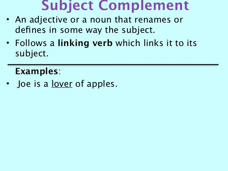 Subject andobjectcomplement – Subject Complement Worksheet