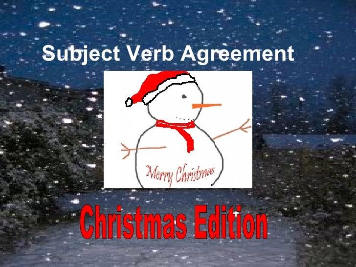 Subject Verb Agreement Christmas Edition