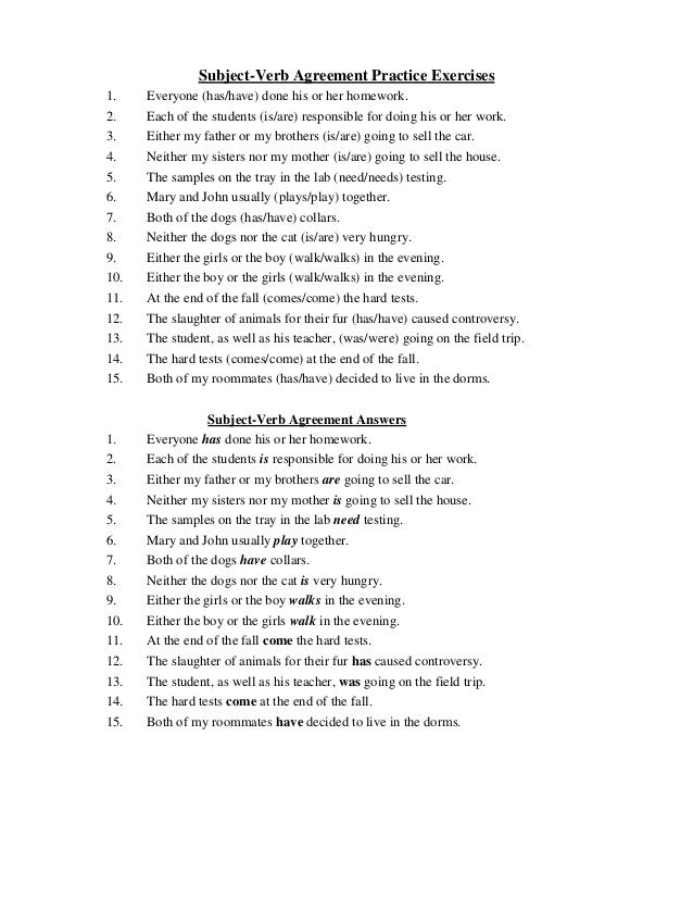 Printables Subject Verb Agreement Worksheets With Answers subject verb agreement worksheet with answers pichaglobal simple present tense exercises subject