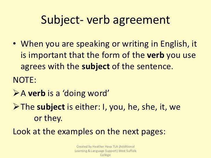 Essay subject verb agreement