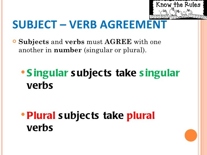 Subject And Verb College Paper Example Johndfurlong