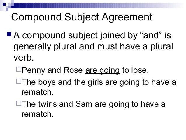 Subject verb agreement compound subject agreement platinumwayz