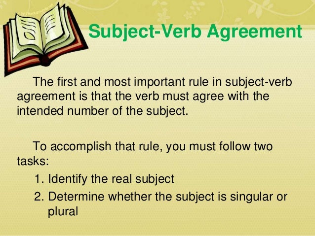 Subject Verb Agreement Basic Rules