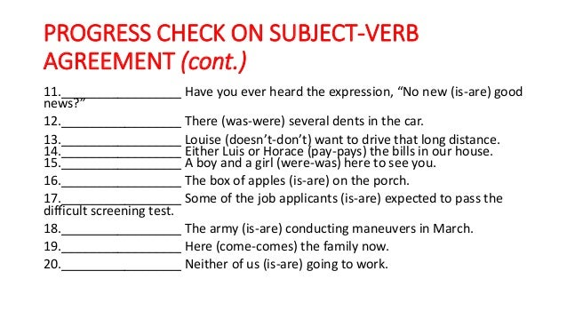 Subject Verb Agreement Check Gecce Tackletarts