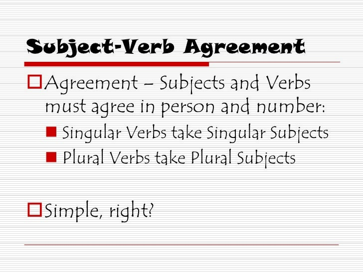 Subject Verb Agreement 2