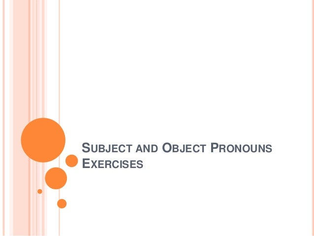 subject and object pronouns pdf