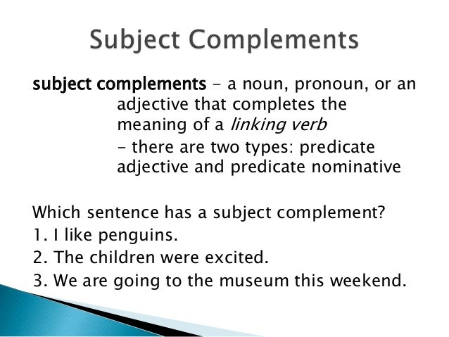 subject complements