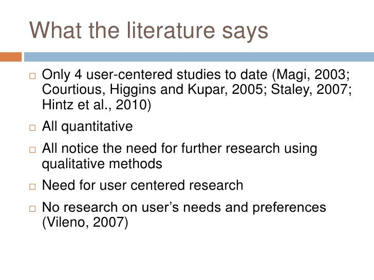 What Do Students Actually Want: A User-Centred Approach to Subject guides Slide 3