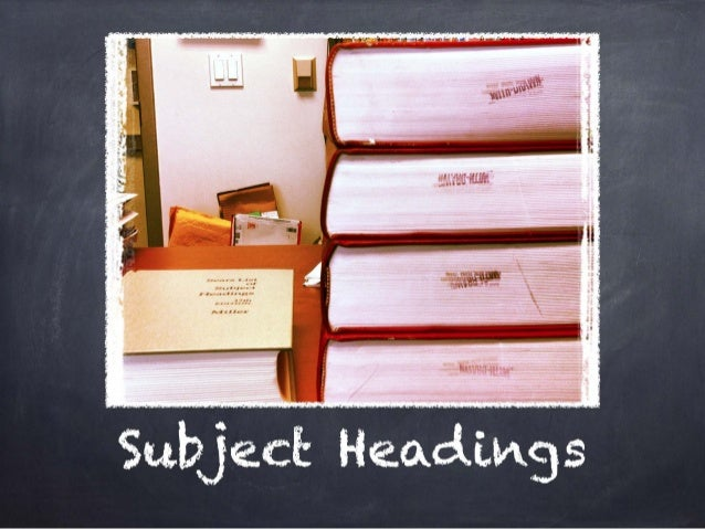 Subject Headings Assignment