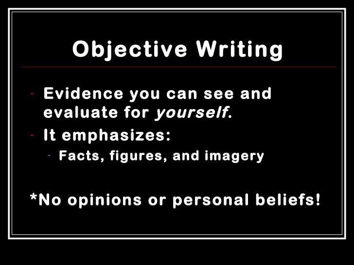 objectivity in essay writing