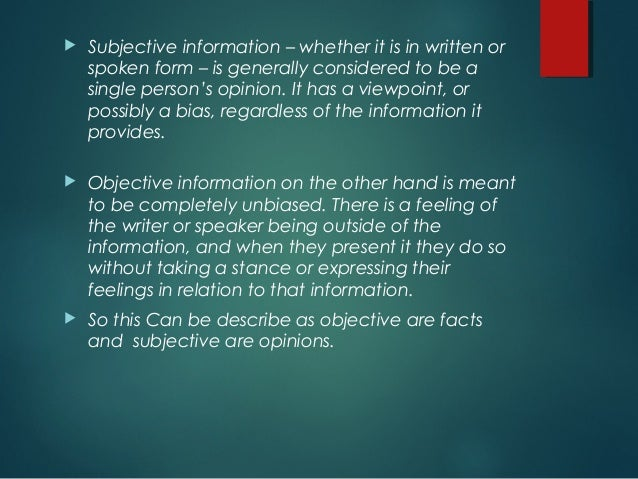 What Is a Subjective Essay?