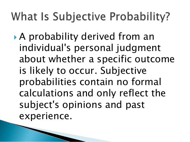 Image result for subjective probability